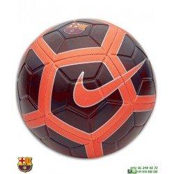 Balon futbol Barcelona Nike Strike Football Burdeos-Naranja SC3280-681 Grabar nombre