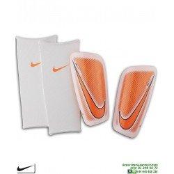Espinillera Nike MERCURIAL LITE Shin Guard Naranja-Blanco SP2086-102 FUTBOL