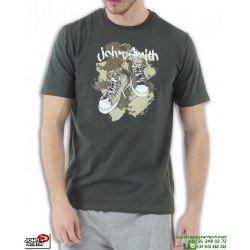 Camiseta JOHN SMITH SATET Verde Militar Algodon Hombre sportwear manga corta