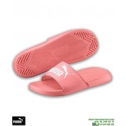 Chancla Puma Mujer POPCAT Rosa-Blanco sandalia pala mujer playa piscina 360265-25 chica
