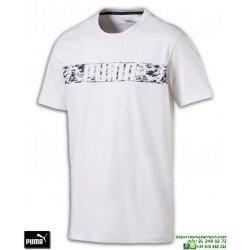 Camiseta PUMA ACTIVE HERO TEE Blanco Algodon Hombre 594955-02 sportwear manga corta