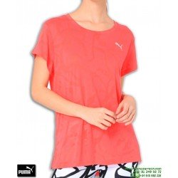 Camiseta de Mujer PUMA TRANSITION BURN OUT TEE Rosa