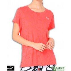 Camiseta de Mujer PUMA TRANSITION BURN OUT TEE Rosa