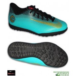 Nike MERCURIAL VAPOR 12 CLUB CR7 Niño JADE Zapatilla Futbol Turf