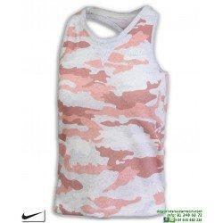 Camiseta Tirantes Chica Nike SPORTWEAR VINTAGE Blanco-Rosa Vigore