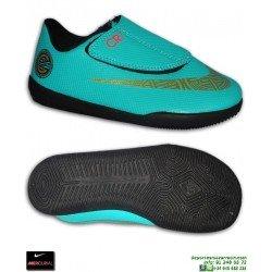 Nike MERCURIAL VAPOR 12 CLUB CR7 Niño VELCRO JADE Futbol Sala