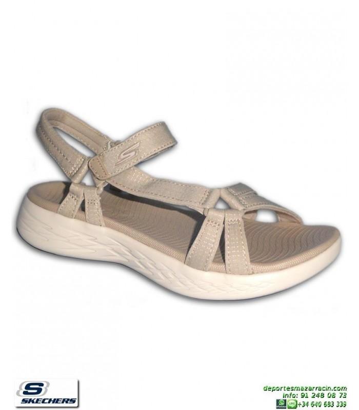 Skechers Sandalias 15316-nat beige para mujer Precio barato clásico Descuento grande de venta Comprar barato Navegar APuEP0Q6D8