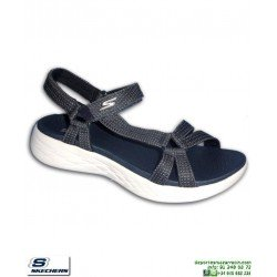 Sandalia SKECHERS ON THE GO 600 Brilliancy Mujer Azul Marino
