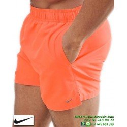 Bañador Bermuda NIKE SWIM SHORT Junior Naranja niños playa piscina NESS8675-618