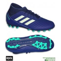 Adidas PREDATOR 18.3 AG Calcetin niño Azul marino Bota Futbol Artificial AH2331
