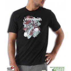 Camiseta JOHN SMITH SATET Negro Algodon Hombre sportwear manga corta