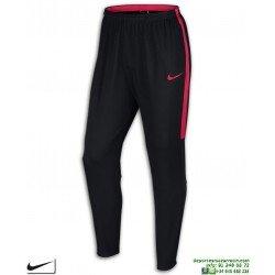 Pantalón Chandal Ajustado NIKE Dry Academy Pant Negro-Rojo Hombre 839363-024 poliester acetato pitillo