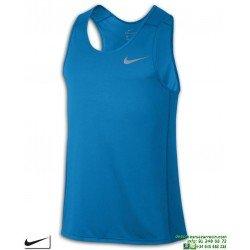 Camiseta Running Tirantes NIKE MILER TANK Azul Poliester Dri Fit 833589-482 correr
