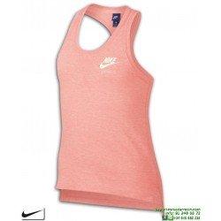 Camiseta Tirantes Chica Nike SPORTWEAR VINTAGE mujer Rosa Vigore algodon 890557-697-SS18
