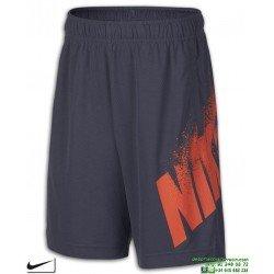 Pantalon Corto Junior NIKE DRY Gris-Rojo 893573-011 niño Poliester DRI FIT short tenis padel verano futbol