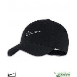 Gorra NIKE Clasica Heritage86 Cap Negro 943091-010 visera curva logo swoosh