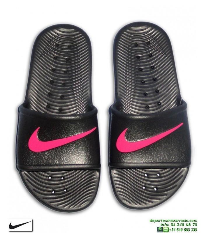 b9185c1417258 Chancla Nike KAWA SHOWER Chica Negro-Rosa Sandalia mujer AQ0899-002 piscina  playa chica