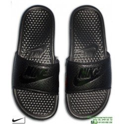 Chancla Nike BENASSI JDI Negra Just Do It Sandalia pala unisex 343880-001 hombre piscina playa chico