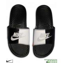 Chancla Nike BENASSI JDI Negro-Blanco Just Do It Sandalia pala unisex 343880-015