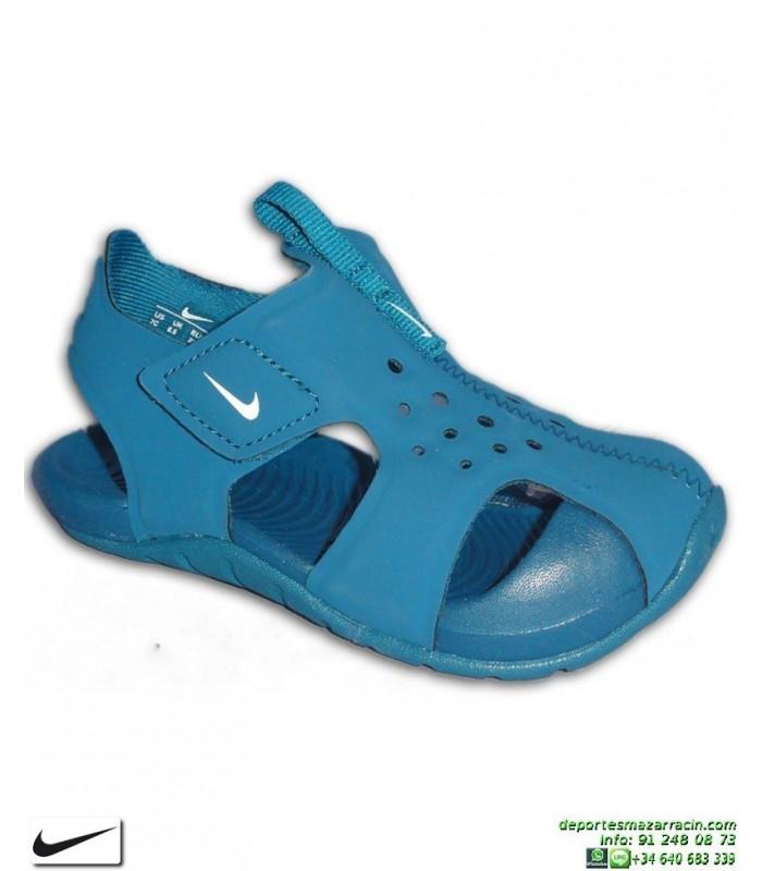 Sandalia Nike SUNRAY PROTECT 2 TD Infantil Niño Azul 943827-301 chancla  ajustable velcro junior b13def31e2963