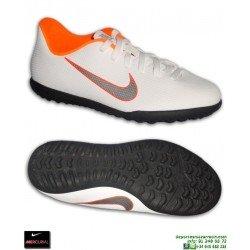 Nike MERCURIAL VAPOR 12 CLUB Niño Blanca Zapatilla Futbol Turf