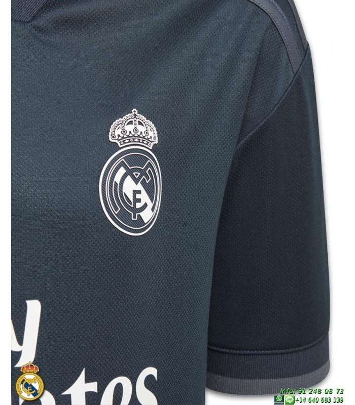 Camiseta REAL MADRID 2018-2019 Negra 2ª Equipacion Junior Adidas Oficial  LFP CG0533 futbol 64ddb7f76df04