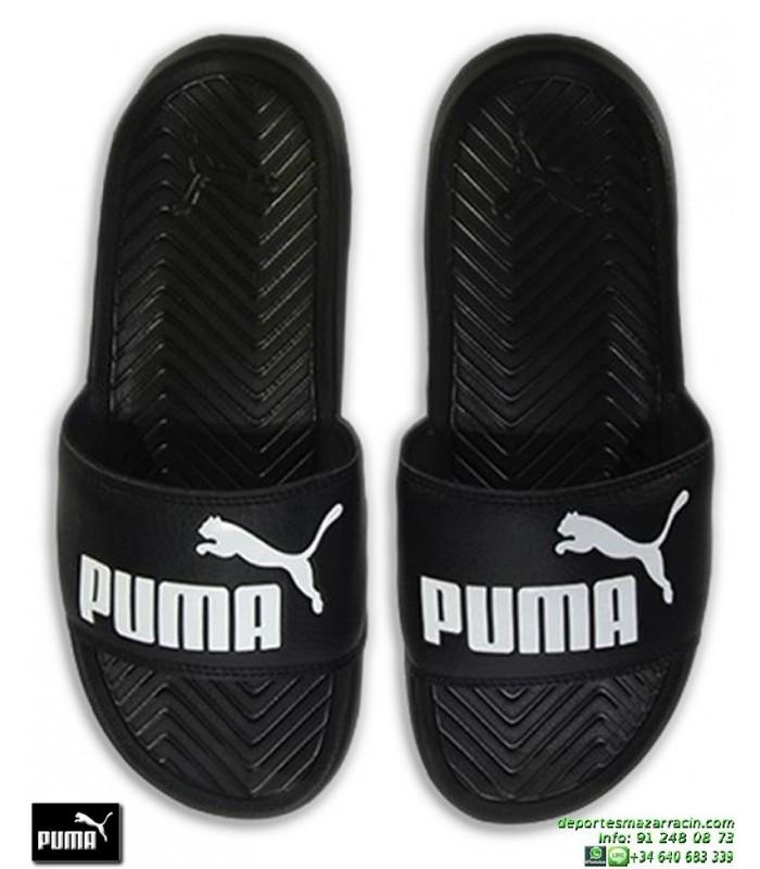 279240008 Chancla Puma Mujer POPCAT Negro-Blanco sandalia pala mujer playa piscina  360265-10 chica