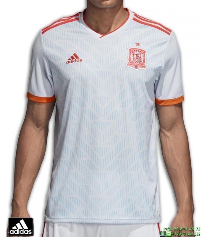 Camiseta ESPAÑA MUNDIAL RUSIA 2018 Gris ADIDAS Oficial futbol BR2697 FEF A  JSY 5fdb1497db2af