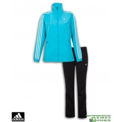 Chandal Microfibra ADIDAS ESS 3S WOVEN SUIT Mujer Azul Negro sportwear