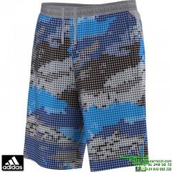 Pantalon Corto ADIDAS deporte CYL SHORT TKN estampado azul