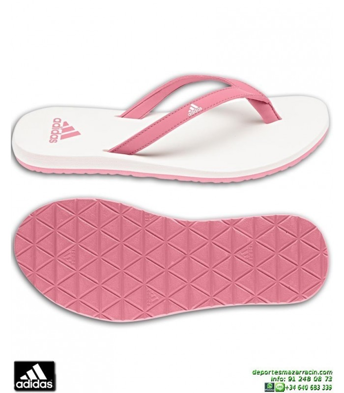save off 3b88f 5bb47 Chancla Mujer ADIDAS EEZAY ESSENCE FLIP FLOP W Blanco-Rosa
