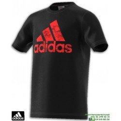 Camiseta ADIDAS Para Niños BOS Negro Algodon CV6144 manga corta