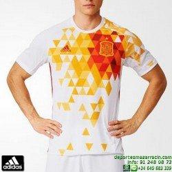 Camiseta ESPAÑA EUROCOPA 2016 BLANCO ADIDAS Oficial futbol AA0830 FEF A JSY seleccion española