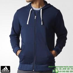 ADIDAS Sudadera Hombre ESS FAB5 HOODIE Azul Marino AB3397 capucha cremallera chaqueta