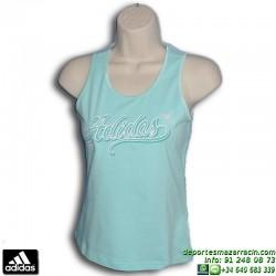 Camiseta Tirantes Chica ADIDAS YG V TANK azul Celeste X20530 algodon mujer gimnasio tenis padel