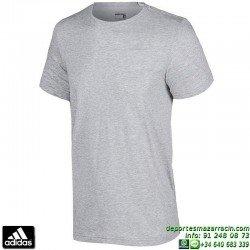 Camiseta ADIDAS ESS TEE Gris Hombre S17647 Algodón Algodón manga corta