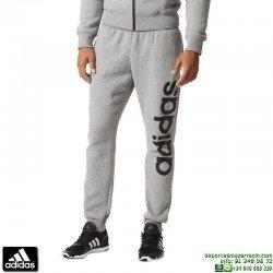 Pantalón Algodon ADIDAS Linear PANT Gris-Negro AC3614 hombre deporte