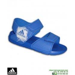 Sandalia Adidas ALTASWIM C Azul BA9289 chancla NIÑO