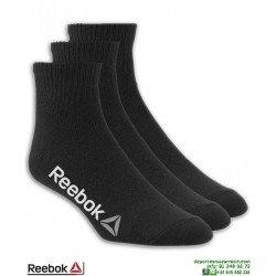 Calcetin REEBOK Tobillero Negro Fino Pack 3 pares 3870TG algodon Fino deporte