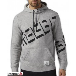Sudadera REEBOK Cotton Series Graphic Hoodie Gris Hombre BP8480