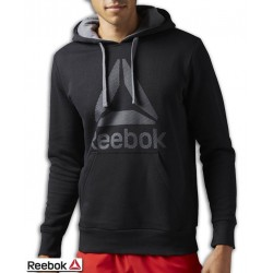Sudadera REEBOK Workout Ready Big Logo Cotton Poly Negro Hombre BK4158