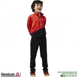 Chandal Junior REEBOK B ES TRIC TS Rojo Riored AY9655 poliester acetato