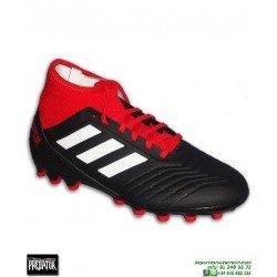 ADIDAS PREDATOR 18.3 AG Negro-Rojo Bota Futbol Calcetin Hierba Artificial BB7747
