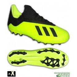 ADIDAS X 18.3 AG Amarillo Fluor Bota Futbol con Calcetin Hierba Artificial