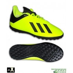 ADIDAS X Niño Tango 18.4 Amarillo Fluor Zapatilla Futbol Turf Minitacos DB2435 Bale Luis Suarez Marcelo