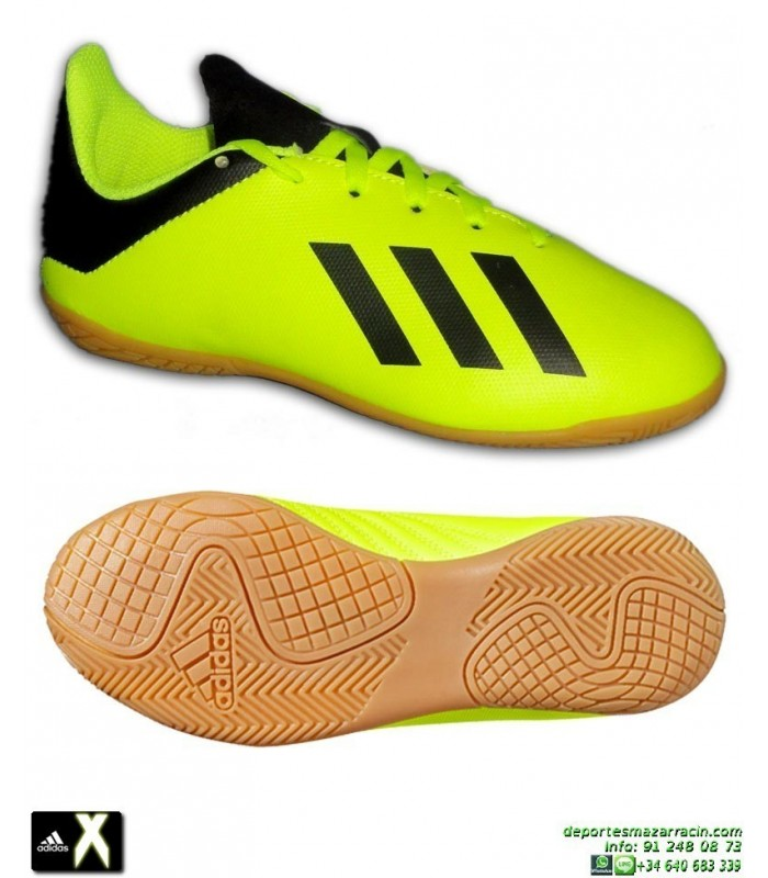 0eef9d61c1f90 ADIDAS X Niño Tango 18.4 Amarillo Fluor Zapatilla Futbol Sala DB2433 Bale  Luis Suarez Marcelo