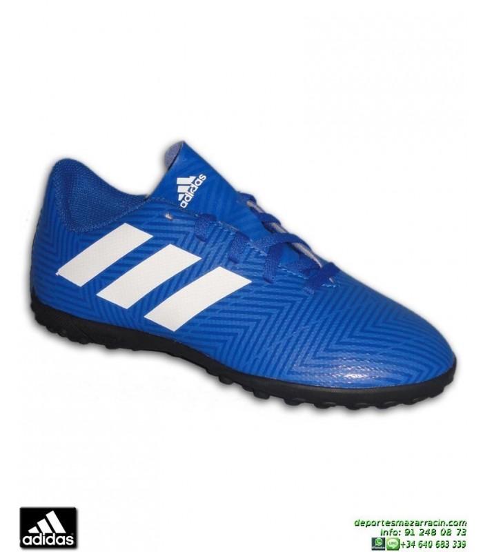 detailed look f7c61 4f184 ADIDAS NEMEZIZ Niños Tango 18.4 azul Zapatilla Futbol Turf D