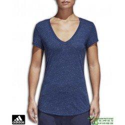 Camiseta de Mujer ADIDAS WINNERS TEE Azul Jaspeado CG0973