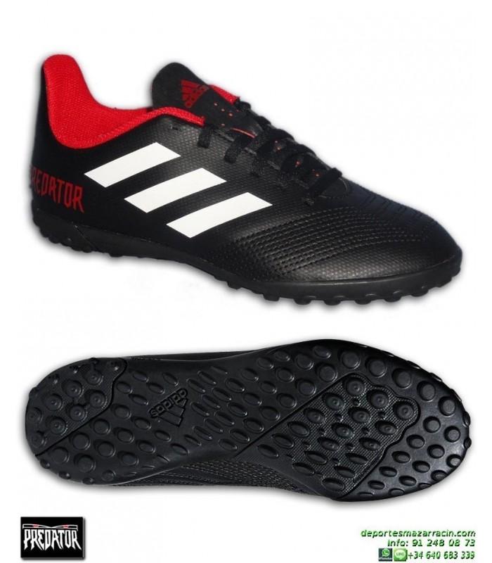 huge sale 9b809 e61fe ADIDAS PREDATOR Niños Tango 18.4 Negro Zapatilla Futbol Turf Microtaco