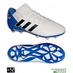 ADIDAS NEMEZIZ MESSI Junior 18.3 Blanco-Azul Bota Futbol Hierba DB2364 personalizar